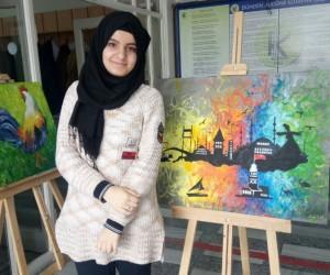 Iraklı genç kız savaş anılarını unutmak için resim yapıyor