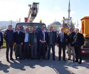 Arsin OSB'den belediyeye vinç