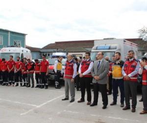 UMKE ekibi dualarla Kilis'e uğurlandı