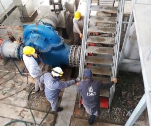 İSKİ tarafından gerçekleştirilen içme suyu tesisleri ve hatlarının yenilenmesi son hızıyla devam ediyor