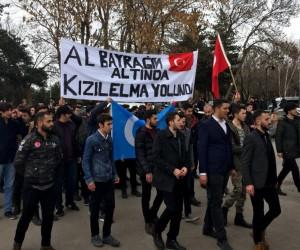 Erzurum'da binlerce üniversiteli Afrin için yürüdü