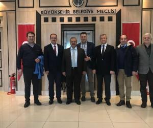Başkan Uysal ve ekibi Büyükşehir de