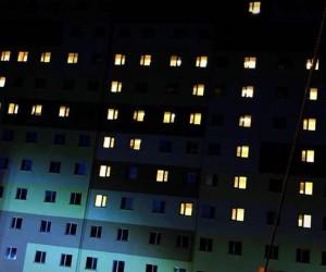 """Öğrenciler yurt ışıklarıyla """"Afrin"""" yazdı"""