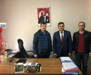 Başkan Yalçın'dan Orman İşletme Şefi Aksen'e hayırlı olsun ziyareti