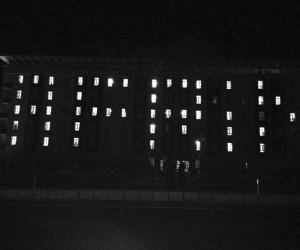 Ağrı'da üniversite öğrencileri yurt binalarını 'Afrin' yazısıyla aydınlattı
