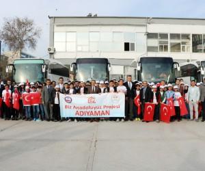 Adıyamanlı öğrenciler Konya'ya uğurlandı