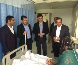 Yaman, Akbulut ve Toltar'dan Hasta Ziyareti