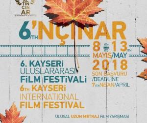 6. Kayseri Uluslararası Film Festivali 8 - 13 Mayıs tarihlerinde yapılacak