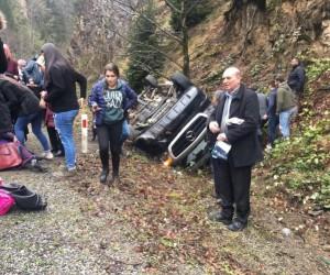 Giresun'da yolcu minibüsü kaza yaptı: 16 yaralı