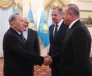 Dışişleri Bakanı Çavuşoğlu, Kazakistan Cumhurbaşkanı Nazarbayev ile görüştü