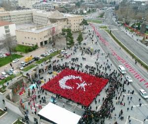 Kayseri'den Mehmetçiğe bin bayraklı selam