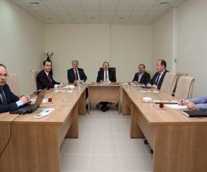 Doğal Taş Fabrikası mart ayı toplantısı Vali Pehlivan başkanlığında gerçekleştirildi