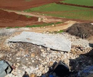 Afrin'de terörden temizlenen Halilo Köyü'ne ait görüntüler ortaya çıktı