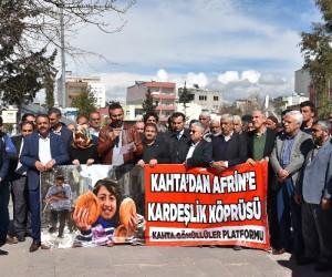 Kahta'da Afrin için yardım kampanyası başlatıldı