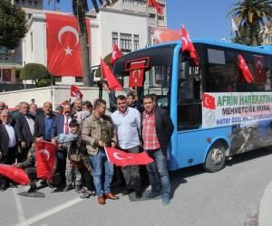 Hataylı otobüs şoförlerinden Mehmetçiğe destek