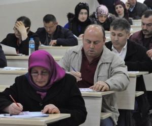 OMÜ'de taşeronların sınav heyecanı