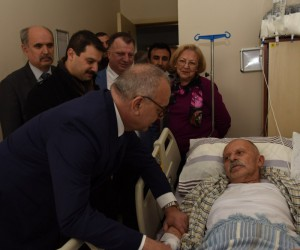 Başkan Ergün'den Açıkdil'e geçmiş olsun ziyareti