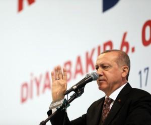 """Cumhurbaşkanı Erdoğan: """"Sorun demokrasi olsaydı 2009'dan sonra Diyarbakır'da silah patlamazdı"""""""