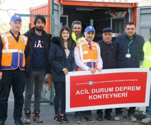Eyüpsultan Belediyesi yaşanabilecek doğal afetlere karşı ihtiyaç konteyneri hazırladı