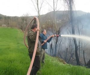 Sinop'ta hastane yakınında yangın