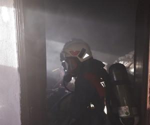 Siirt'te bir evde yangın çıktı