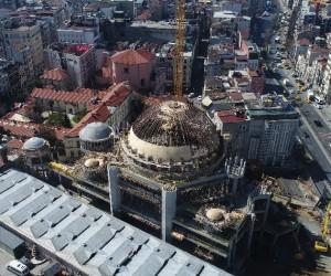 (Özel) Taksim Camii inşaatındaki son durum havadan görüntülendi