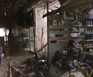 Açık bırakılan bilgisayarlar yüzünden çıkan yangında 300 bin liralık zarar