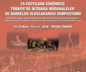 İktidara müdahaleler ve darbeler sempozyumu Yozgat'ta yapılacak