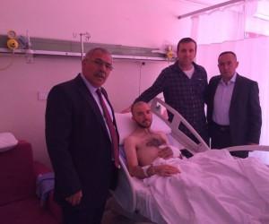 Başkan Karaaslan, Afrin gazilerini ziyaret etti