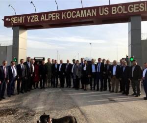 Parlamenterler Birliği yönetim kurulu askeri üst bölgesini ziyaret etti