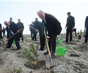 Kütahya'da 'şehitler için bir fidan da sen dik' projesi kapsamında 250 fidan toprakla buluştu