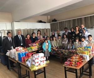 Kültür Kurumu İlkokulu'nda yardım seferberliği