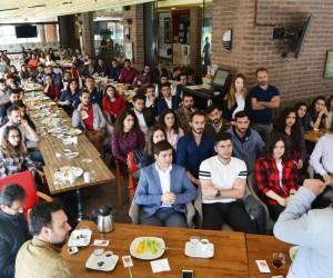 Rektör Bircan, Söke'de öğrencilerle bir araya geldi