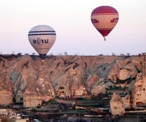 Kapadokya'da balon uçuşları iptal edildi