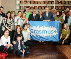 Erdemli Belediyesi, 'Erasmus Plus Projesi'nin temsilcilerini ağırladı