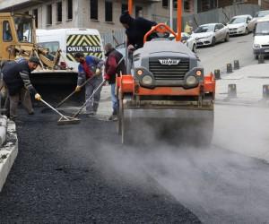 Eyüpsultan'da caddeler düzenleniyor