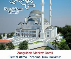 Merkez Camii temel atma töreni yapılacak