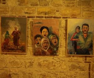 """Kuşadası'nda """" Barış'a Doğru """" resim sergisi açıldı"""