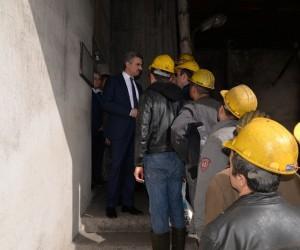 Vali Baruş, 1 kişinin öldüğü madende inceleme yaptı