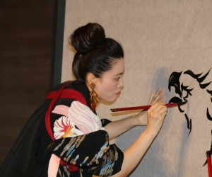 Ünlü Japon sanatçı Sisyu NEVÜ'de canlı performans sergiledi
