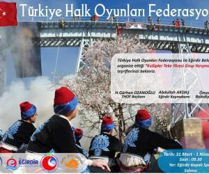 Halk Oyunları grup yarışması Eğirdir'de gerçekleşecek