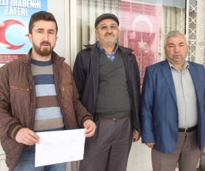 Kızılçukur köyü sakinlerinden bağış kampanyasına destek