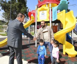 Başkan Sözlü, parkları yerinde inceledi