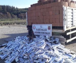 Elazığ'da 13 bin 500 paket kaçak sigara ele geçirildi