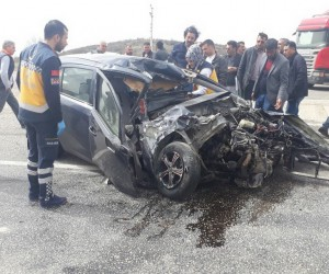 Uşak'ta trafik kazası: 1 ölü