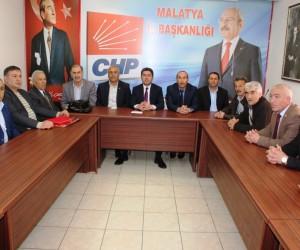 Hekimhan Muhtarlar Derneği'nden CHP'ye ziyaret