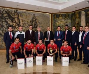 Vali Yerlikaya Avrupa Şampiyonlarını ağırladı