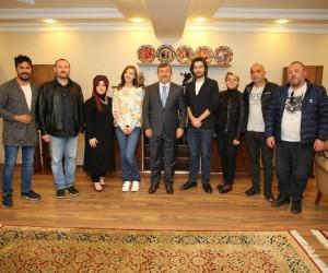 Başkan Karabacak Elif dizisi oyuncularını ağırladı