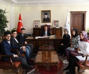 Geleceğin idarecilerinden Vali Kalkancı'ya ziyaret
