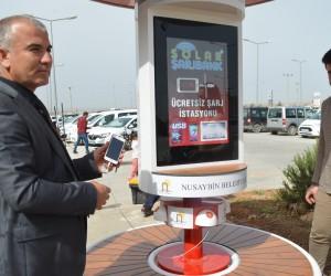Nusaybin Belediyesinden güneş enerjili bank